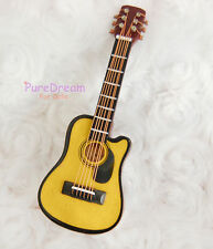 Dollhouse Miniature Music Instrument Folk Guitar HE006B