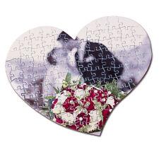 Herz Fotopuzzle 108 Teile A4  mit Fotodruck hochglanz Puzzle Herzform