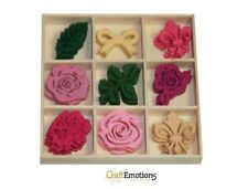 Manualidades Emotions Caja de 45 FIELTRO FORMAS Adornos Alto té ROSAS 8004000161