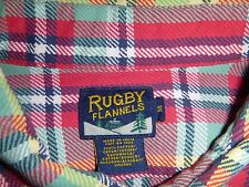 RARE Men's Ralph Lauren Rugby Flannels Edition Multi color shirt size Medium