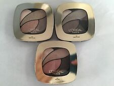 Loreal Paris Colour Riche Eye Shadow Quad, Lot of 3!  #230, #250, #300