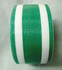 """Lawn Chair Webbing  Outdoor Strapping Replace 3"""" x 100 feet  White and Green"""