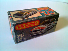 Boîte copie repro MATCHBOX Superfast N° 25 new Audi Quattro ( reproduction box )