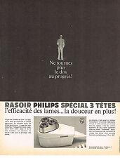 PUBLICITÉ  1966   PHILIPS   rasoir 3 tetes