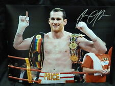 David Price Signed 12x16  Boxing Photograph: B