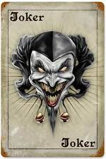 Lethal Threat Evil Joker Card Poker Metal Sign Man Cave Shop Garage Club LETH057