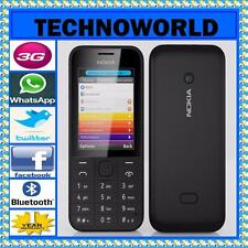 UNLOCKED NOKIA 208+BLUE TICK+3G+YOUTUBE+FACEBOOK+WHATSAPP+TWITTER+BLUETOOTH+FM