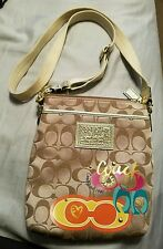 AUTHENTIC COACH POPPY SIGNATURE DAISY POP C MULTI HANDBAG CROSSBODY BAG PURSE