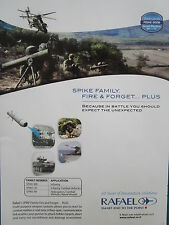 3/2008 PUB RAFAEL ISRAEL DEFENSE FORCES SPIKE FAMILY FIRE & FORGET ORIGINAL AD