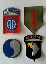 Konvolut 4 US patch 1st 29th Infantry div. 82nd 101st Airborne - Qualität KOPIE