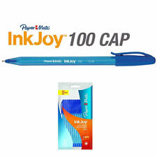 Papermate Paper Mate INKJOY 100 Capped Ballpoint Pen, Blue, Cheap School Office