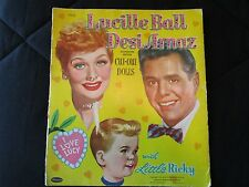 1953 Lucy Ball, Desi Arnaz, Ricky Paper Doll with Clothing & Access. - Whitman