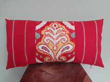 Decorative Pillow Cover Beautiful Red Yellow White Green Beige Ikat Pattern