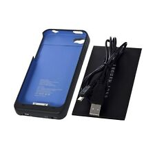 Blue 1900mAh External Backup Battery Charger Case For iPhone 4 4S GU