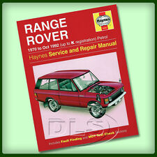 RANGE ROVER CLASSIC Petrol - Haynes Workshop Manual 1970 to 1992 (DA3048)
