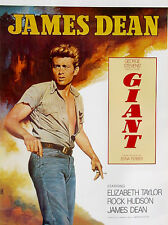 Giant (1956)•James Dean•Elizabeth Taylor•Hudson•Vintage Movie Poster Art 20x28