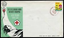 Indonesia 940,1975 Red Cross  First Day Cover FDC  x12880