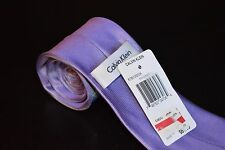 "NWT Calvin Klein Purple/White Geometric Mens Classic Slim Neck Tie 3"" Wide"