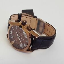 Stylish Mens Brown Leather Quartz Luxury Watch by Emporio Armani AR1609