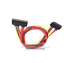 15+7 Pin SATA Data 22PIN Male to Female HDD Hard driver Power Extension Cable