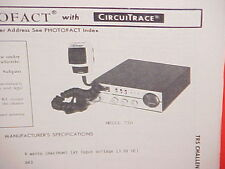 1979 TRS CHALLENGER CB RADIO SERVICE SHOP MANUAL MODEL 730