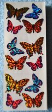A BUTTERFLY, PRISMATIC HAMBLY VINTAGE Prismatic Butterflies Stickers 3 SQUARES