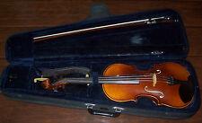 Classic 4/4 Hand Carved HK Schmidt Violin Model 275 W/Case & Shoulder Rest &More