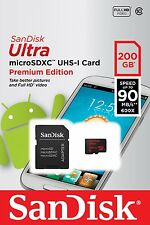 SanDisk Ultra 200GB microSDXC Flash Card with adapter SDSDQUAN-200G-G4A
