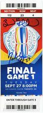 Brad Marchand Patrice Bergeron Sign Autograph World Cup Hockey Final GM 1 Ticket