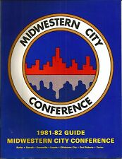 1981-82 Midwestern City Conference Men's Basketball Media Guide