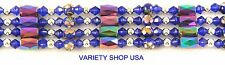 """Rainbow Hematite and Cloisonne Beads Magnetic Strand 36"""" Lariat Necklace LAR36RB"""