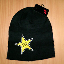 NEW ONE INDUSTRIES ROCKSTAR KORMA beanie hat SUPER SOFT mens womens BLACK YELLOW