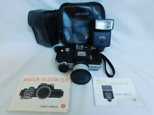 MINOLTA 110 ZOOM SLR CAMERA CARRYING CASE & AUTO ELECTROFLASH 25 VINTAGE