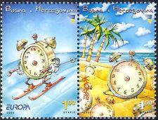 Bosnia Herzegovina 2004 Europa/Holidays/Alarm Clock/Ski/Animation 2v pr (n44338)