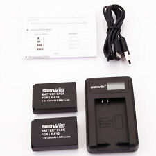 2x Battery LP-E12 LPE12 for Canon EOS M 100D EOS-M M2 Rebel SL1 Camera +Charger