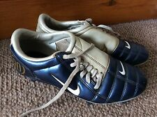 Retro Rare Blue And White Nike Total 90 Football Boots Uk Size 5