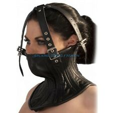 Couple Slave Roleplay Collars + Head Fixation Harness Leather Belt Fetish Toys