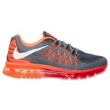 Nike Air Max 2015 Grey Orange Running Shoes Men Size 10.5 New!