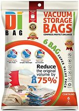 DIBAG ® 6 Vacuum Compressed Storage Saving Space Bags 100 X 80 CM For Clothing,