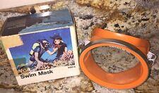 Vintage Voit Swim Mask B90-S Diver Scuba Tempered Glass W/Original Box