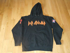 VINTAGE STYLE DEF LEPARD HOODED SWEATSHIRT HOODIE MEN'S MEDIUM ROCK OF AGES LOVE