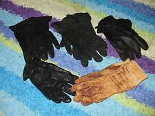 MIXED LOT LEATHER Riding Gloves  4 BLACK 1 TAN SMALL/ MED 5 pairs in lot all inc