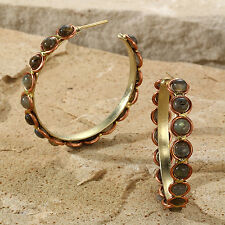 Tara Mesa Labradorite Beaded Hoop Earrings @SOPHISTICATED@ MSRP~$225.00