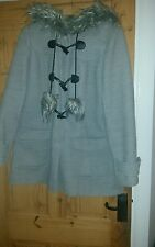 Dorothy perkins duffel coat with pom poms size 14