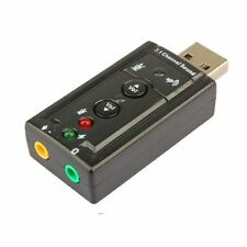 External USB to 3D Audio USB Sound Card Adapter 7.1 Channel Microphone Headset