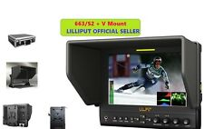 "Lilliput 7"" 663/S2 1280X800 IPS Peaking Focus SDI HDMI In&out + V mount+Gimbal"