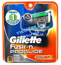 Gillette Fusion Proglide Power Razor Blades,8 Cartridges,100%AUTHENTIC, #00