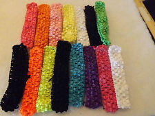 Wholesale 15 pcs Girls Baby Crochet Headband With 1 inch Acrylic