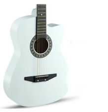 White New High-Grade 38 inch Basswood Musical Instruments Acoustic Guitar #