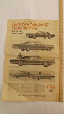 VTG 1967 Ford Mustang Fairlane T-Bird Milwaukee Journal Auto Show Newspaper Ad